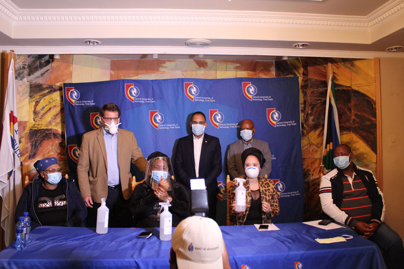 CUT's innovative project to combat COVID-19 pandemic impress Free State Premier