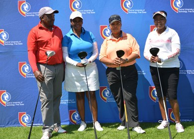 CUT and business partners tee off at inaugural Welkom Golf Day