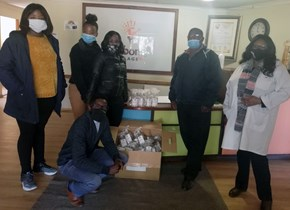 CUT donates sanitisers in commemoration of Mandela Day