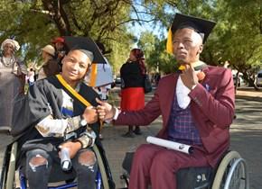 Two CUT graduates turn their disability into achievement