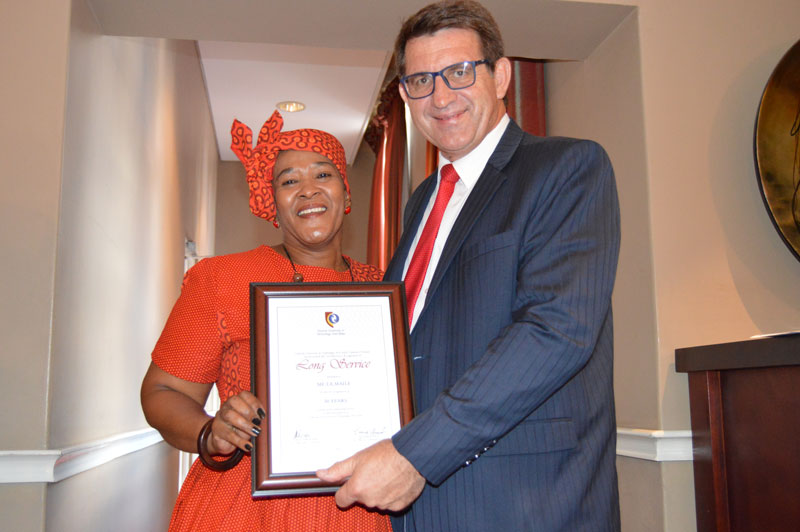 CUT commends employees for their long service