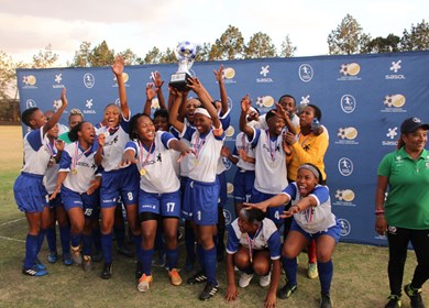 Welkom Campus Ladies Soccer team crowned champions of the 2019 Free State SASOL Women's League
