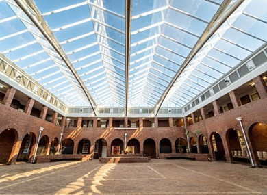 CUT's gorgeous Hotel School building glass roof is a sight to behold!