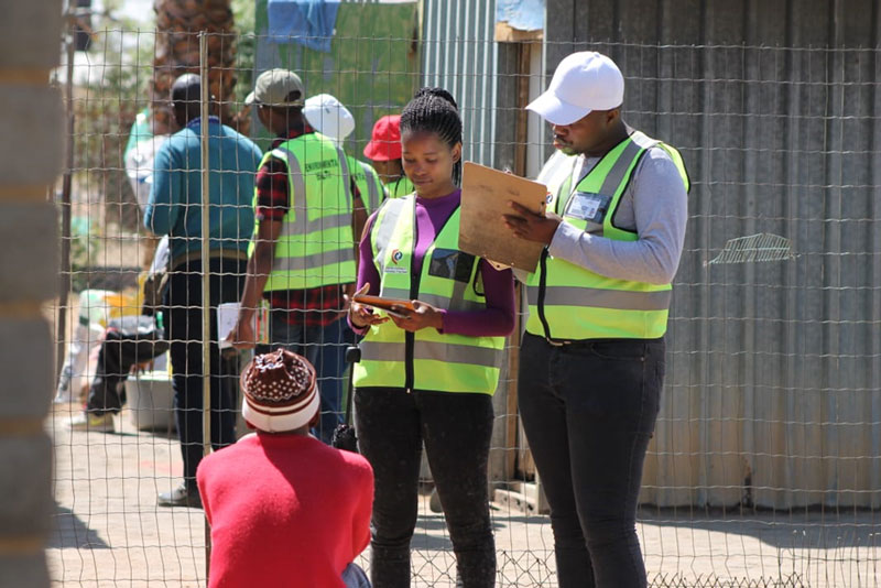 CUT students collaborate with Mangaung Metro to conduct Environmental Health survey at Joe Slovo Square township