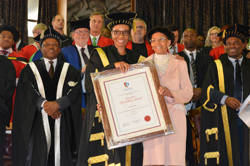 CUT honours Dr Blekie with Chancellor's Excellence Award