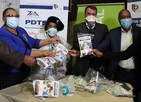 CUT and Old Mutual donate 1000 clinician masks and face shields